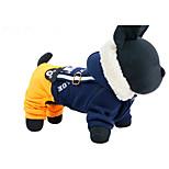 Собака Упряжки Одежда для собак На каждый день Буквы и цифры Темно-синий Желтый