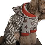 Собака Толстовки Одежда для собак На каждый день Полоски Красный