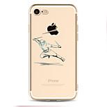 Назначение Чехлы панели С узором Задняя крышка Кейс для Композиция с логотипом Apple Мягкий Термопластик для AppleiPhone 7 Plus iPhone 7