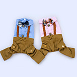 Собака Комбинезоны смокинг Одежда для собак На каждый день Свадьба Английский Синий Розовый