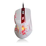 Ajazz-aj100 первая кровь лазерная мышь 8200 dpi 6 кнопок светодиодная оптическая usb проводная игровая мышь a9800