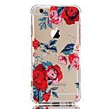 Taske til iphone 7 6 blomst tpu blødt ultra-tyndt bagside cover cover iphone 7 plus 6 6s plus se 5s 5 5c 4s 4