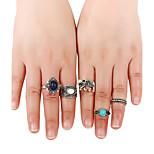Жен. Классические кольца Кольцо манжета кольцо Мода Панк Хип-хоп Multi-Wear способы Euramerican АфрикаМеталлический сплав Резина Металл