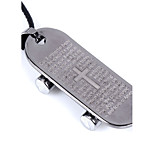 Men's Pendant Necklaces Statement Necklaces Cross Sliding Plate Stainless Steel Titanium Steel Unique Cool Casual Fashion Dangling Style Jewelry
