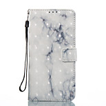 Til samsung galaxy s8 s8 plus case cover beige marmor mønster 3d malet kort stent tegnebog telefon taske til galakse s7 s7 kant s6 s6 kant