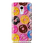 Case voor xiaomi redmi 4a note 4x double imd case achterkant hoesje donut patroon soft tpu redmi 3s