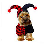 Собака Костюмы Одежда для собак Хэллоуин Рождество Геометрические линии Черный