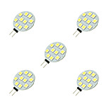 2W LED Crystal Light G4 10SMD 5050 White/Warm White DC12V 5Pcs