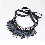 Women's Collar Necklace Bead Alloy Tassel Euramerican Fashion Jewelry Party 1pc