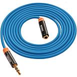 3,5 мм аудио разъем Удлинитель, 3,5 мм аудио разъем to 3,5 мм аудио разъем Удлинитель Male - Female Позолоченная медь 2.0m (6.5Ft)