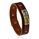 Retro New Fashion Adjustable Alloy Anchor Genuine Leather Bracelet