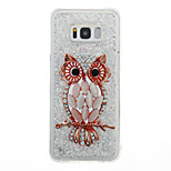 Til Samsung Galaxy S8 Plus S8 Case Cover Ugle Mønster Flash Pulver Quicksand TPU Materiale Telefon Case S7 Kant S7 S6 Kant S6 S5