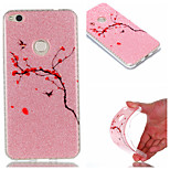 Case for Huawei P8 Lite (2017) P9 IMD Back Cover Flower Glitter Shine Soft TPU P9 Lite P8 Lite