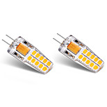 3W LED à Double Broches T 20 SMD 2835 300 lm Blanc Chaud Blanc V 2 pièces