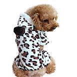Собака Толстовки Комбинезоны Одежда для собак На каждый день Леопардовый принт