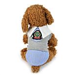Собака Костюмы Одежда для собак На каждый день Английский Серый