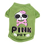 Собака Костюмы Футболка Одежда для собак Косплей Черепа Зеленый
