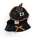 Кошка Собака Костюмы Одежда для собак Хэллоуин Сплошной цвет Черный