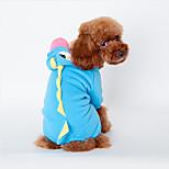 Собака Костюмы Одежда для собак Косплей Животные Зеленый Синий Розовый