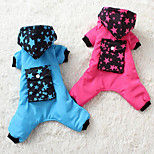 Собака Комбинезоны Одежда для собак На каждый день Звезды Пурпурный Синий