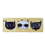 Cool Cat Yellow Bottom Mouse Pad Waterproof Cartoon Style Cloth 78CM*30CM