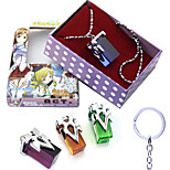 Anime Action Inspired by Sword Art Online Kirito Key Doll Toy Necklace 4PCS
