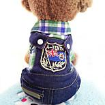 Собака Комбинезоны Одежда для собак На каждый день Джинсы Лиловый Красный Зеленый