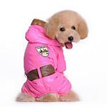 Собака Толстовки Комбинезоны Одежда для собак На каждый день Сплошной цвет Синий Розовый