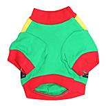 Собака Футболка Одежда для собак На каждый день Рождество Геометрические линии Красный Зеленый