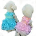 Собака Платья Одежда для собак На каждый день Принцесса Желтый Пурпурный Синий Розовый