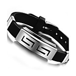 Fashion and personality best Mr Titanium steel silicone bracelets both men and women