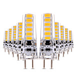 4W Двухштырьковые LED лампы T 12 SMD 5730 300-400 lm Тёплый белый Холодный белый Декоративная Диммируемая AC 12 V 10 шт.