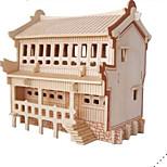 Пазлы Набор для творчества 3D пазлы Строительные блоки Игрушки своими руками Архитектура Натуральное дерево