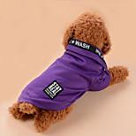 Собака Футболка Одежда для собак На каждый день Буквы и цифры Серый Лиловый Синий Розовый