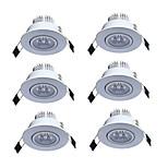 6pcs/lot Led downlight lighting lamp 3W AC85-265V Recessed LED Spot Light Forliving room