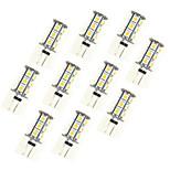 2.5W Двухштырьковые LED лампы 18 SMD 5050 198 lm Тёплый белый Белый DC 12 V 10 шт.