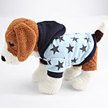 Dog Hoodie Dog Clothes Casual/Daily Stars Light Blue Blushing Pink