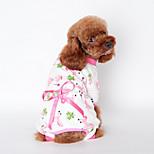 Собака Комбинезоны Одежда для собак На каждый день Бант Желтый Синий Розовый