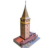 Пазлы Набор для творчества 3D пазлы Строительные блоки Игрушки своими руками Знаменитое здание Китайская архитектура