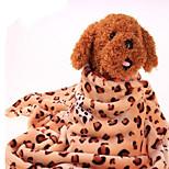 Собака Кровати Животные Одеяла Леопард Теплый Компактность Двусторонний Мягкий Цвет-леопард