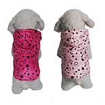 Собака Толстовки Одежда для собак На каждый день Горох Пурпурный Розовый
