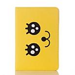 Чехол для ipad 2017 воздушный 2 воздушный сальто полный корпус корпус мультфильм улыбающийся facehard кожа pu для ipad2.3.4 мини 4 мини