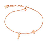 European and American fashion temperament single drill key chains rose gold plating titanium steel chains act the role ofing is tasted girl's gift