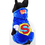 Собака Толстовки Одежда для собак На каждый день Буквы и цифры Красный Синий