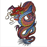 Temporary Tattoos Shoulder Body  Totem Series 3D Waterproof Tattoos Stickers Non Toxic Glitter Large Fake Tattoo Body Jewelry Halloween Gift 22*15cm