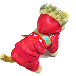 Собака Плащи Одежда для собак Сохраняет тепло Английский Красный Зеленый Синий