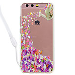 Case For Huawei P10 Lite P10 Butterfly Flowers Pattern Acrylic Backplane and TPU Edge Materia Neck Lanyard P9 Lite P8 Lite 2017 P8 Lite