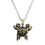Lureme Vintage Jewelry World of Warcraft 3D Horde Signs Necklace for WOW Fans