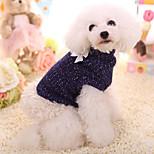 Собака Свитера Одежда для собак Сохраняет тепло Сплошной цвет