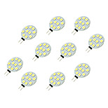 2W LED Crystal Light G4 10SMD 5050 White/Warm White DC12V 10Pcs